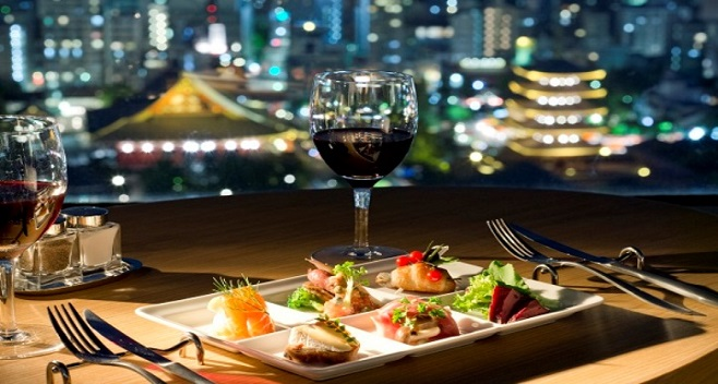 Asakusa View Hotel: Sky Grill Buffet & Bar Musashi on the 26F