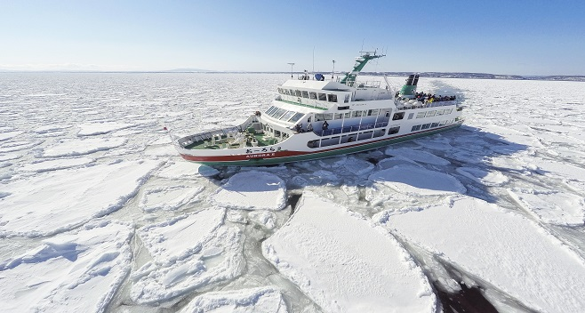 Drift Ice Sightseeing on the Aurora Icebreaker from Abashiri